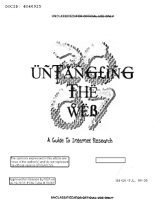 NSA - untangling the web