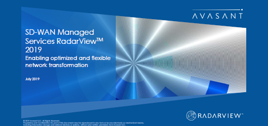 Avasant SD-WAN Managed Services RadarView 2019