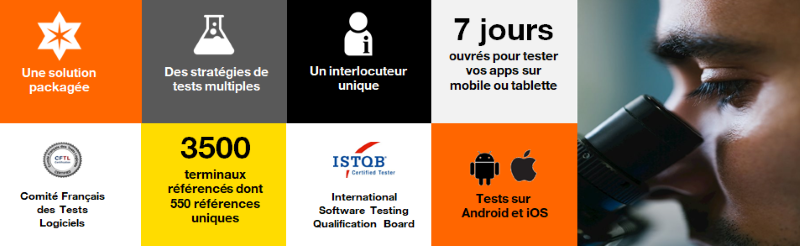Tests d'applications mobiles digitales Orange Business Services