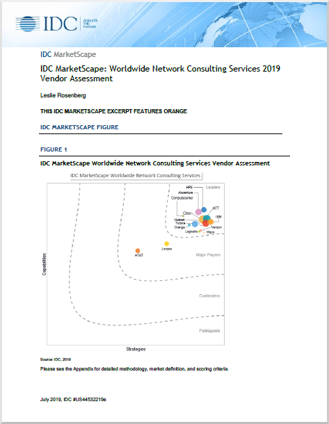 IDC MarketScape: Worldwide Network Consulting Services 2019 Vendor Assessment