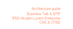 Business Talk Guide: Alcatel Lucent Entreprise OXE & OTBE