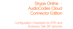 Business Talk Guide: Microsoft Skype for Business and Lync
