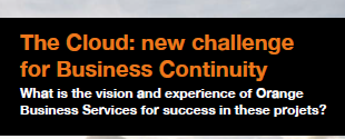 The cloud: new challenge for business continuity