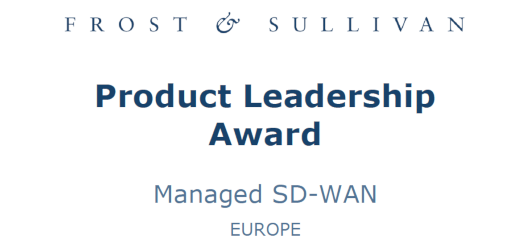 Frost & Sullivan Product Leadership Award Managed SD-WAN Europe