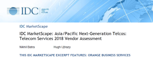 IDC MarketScape: Asia/Pacific Next-Generation Telcos: Telecom Services 2018 Vendor Assessment