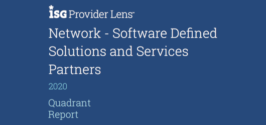 ISG Provider Lens - Network - Software Defined Solutions and Services Partners - 2020 Quadrant Report