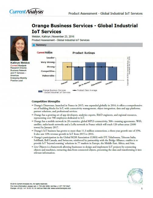 Current Analysis - Global Industrial IoT Services