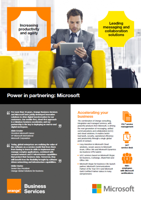 Power in Partnering: Microsoft