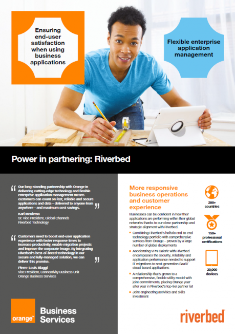 Power in partnering: Riverbed Technology